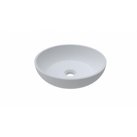 Riho Livit Slate Bowl Umywalka nablatowa 38x38 cm biała F70076