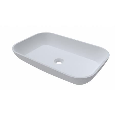 Riho Livit Slate Bowl Umywalka nablatowa 58x38 cm biała F70078