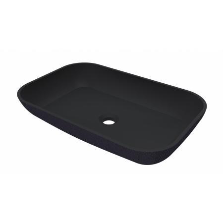 Riho Livit Slate Bowl Umywalka nablatowa 58x38 cm czarny mat F70073
