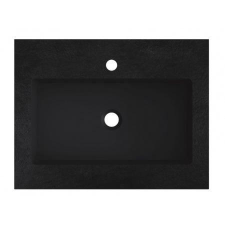 Riho Livit Stone Slim Umywalka meblowa 60,3x46 cm czarny mat F70053