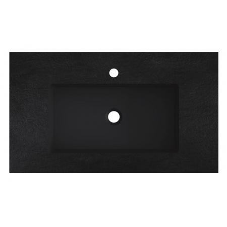 Riho Livit Stone Slim Umywalka meblowa 80,3x46 cm czarny mat F70054