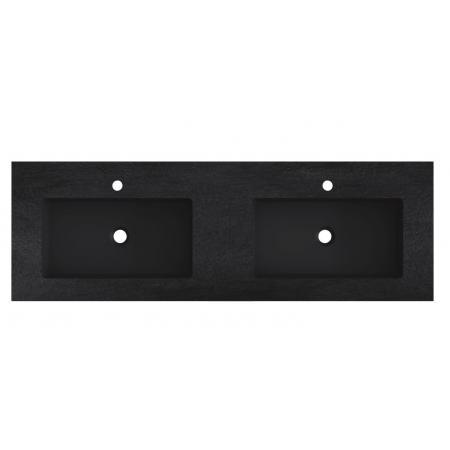 Riho Livit Stone Slim Umywalka meblowa podwójna 140,3x46 cm czarny mat F70057