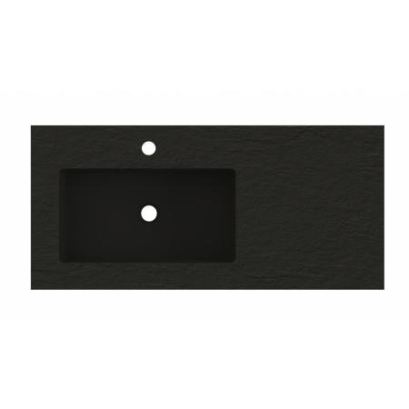 Riho Livit Stone Slim Umywalka meblowa z półką 100,3x46 cm czarny mat F70069