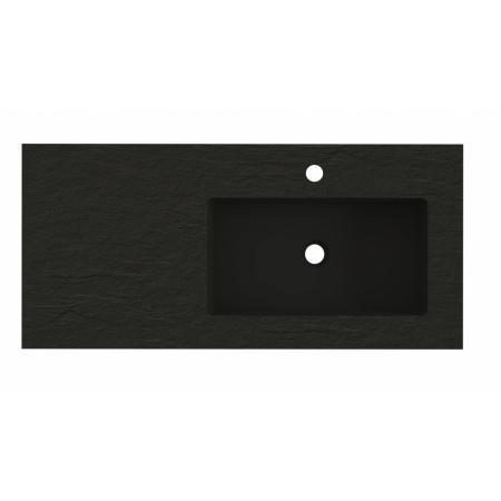Riho Livit Stone Slim Umywalka meblowa z półką 100,3x46 cm czarny mat F70070