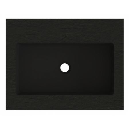 Riho Livit Stone Top Umywalka meblowa lub wisząca 60,3x46 cm czarny mat F70062