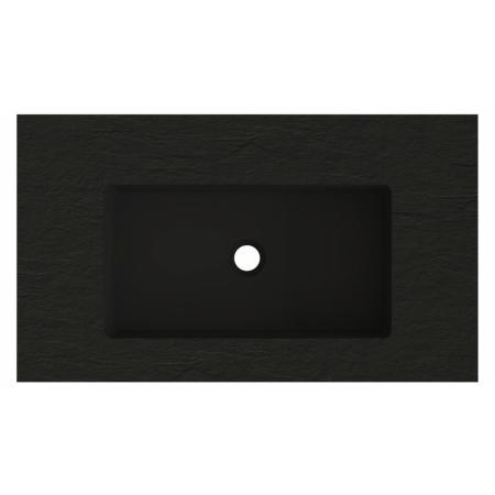 Riho Livit Stone Top Umywalka meblowa lub wisząca 80,3x46 cm czarny mat F70063