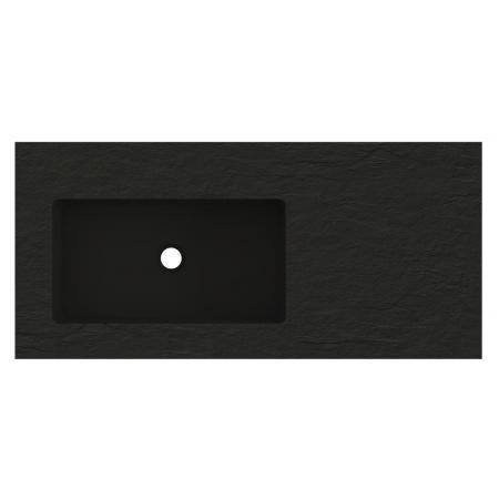 Riho Livit Stone Top Umywalka meblowa lub wisząca z półką 100,3x46 cm czarny mat F70065