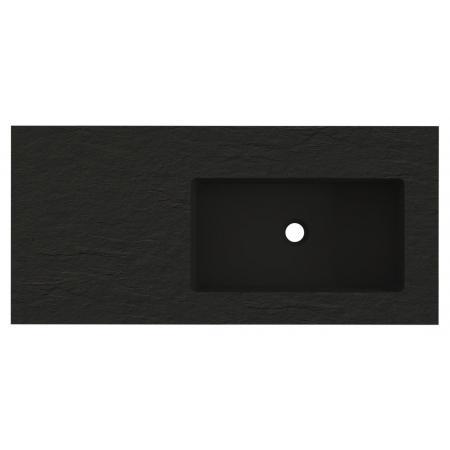 Riho Livit Stone Top Umywalka meblowa lub wisząca z półką 100,3x46 cm czarny mat F70066