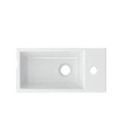 Riho Livit Tiny Wash Umywalka meblowa lub wisząca 41x20,5 cm biały połysk F70074