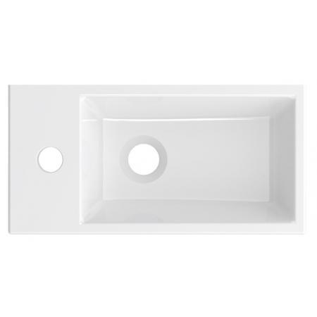Riho Livit Tiny Wash Umywalka meblowa lub wisząca 41x20,5 cm biały połysk F70075
