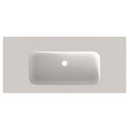 Riho Livit Velvet Slim Umywalka meblowa 100,5x46 cm bez otworu na baterię biały mat F70027