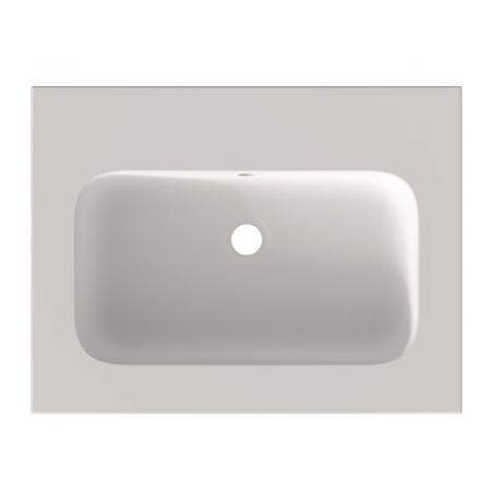 Riho Livit Velvet Slim Umywalka meblowa 60,5x46 cm bez otworu na baterię biały mat F70023