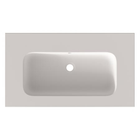 Riho Livit Velvet Slim Umywalka meblowa 80,5x46 cm bez otworu na baterię biały mat F70025