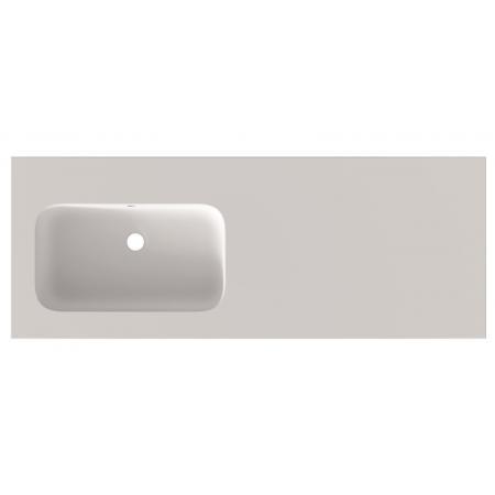Riho Livit Velvet Slim Umywalka meblowa z półką 120,5x46 cm bez otworu na baterię biały mat F70031
