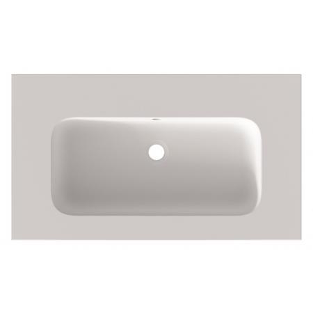 Riho Livit Velvet Top Umywalka meblowa lub wisząca 80,5x46 cm bez otworu na baterię biały mat F70041