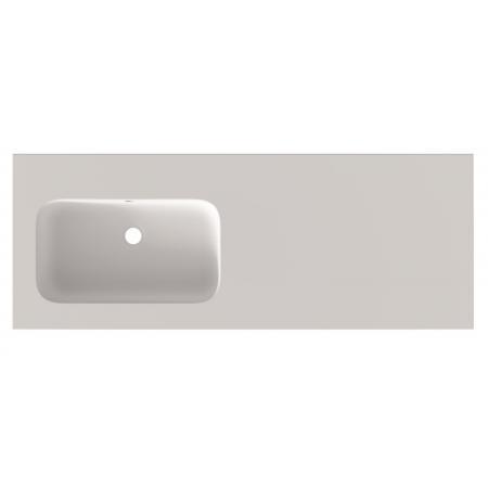 Riho Livit Velvet Top Umywalka meblowa lub wisząca z półką 120,5x46 cm z otworem na baterię biały mat F70048