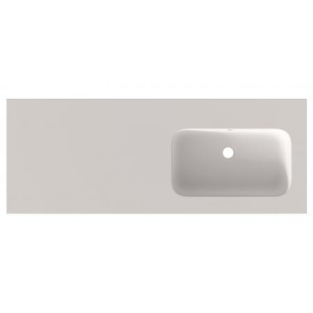 Riho Livit Velvet Top Umywalka meblowa lub wisząca z półką 120,5x46 cm z otworem na baterię biały mat F70050