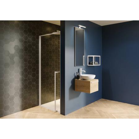 Riho Lucid GD101 Drzwi uchylne 90x200 cm profile biały mat szkło przezroczyste GD109W000