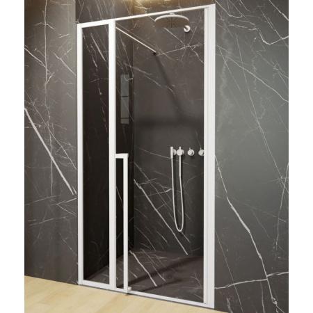 Riho Lucid GD104 Drzwi uchylne 130x200 cm profile biały mat szkło przezroczyste GD113W000