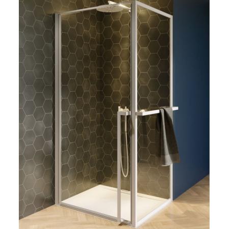 Riho Lucid GD201 Kabina kwadratowa 100x100x200 cm profile biały mat szkło przezroczyste GD210W100