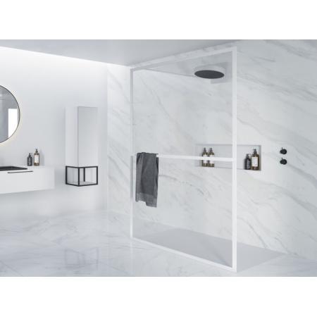 Riho Lucid GD401 Kabina Walk-in 100x200 cm profile biały mat szkło przezroczyste GD310W000