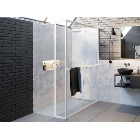 Riho Lucid GD402 Kabina Walk-in 120x30x200 cm profile biały mat szkło przezroczyste GD412W030