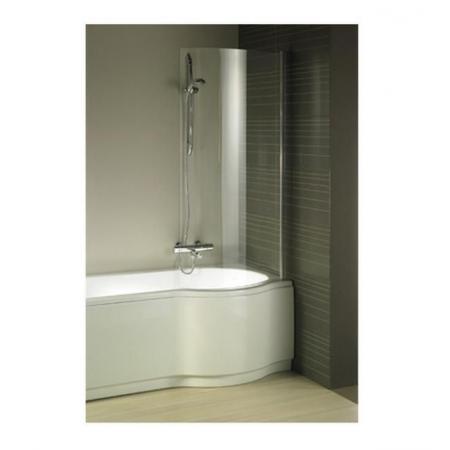 Riho Novik Z108 Parawan nawannowy jednoczęściowy 80x150 cm do wanny Dorado lewej profile aluminiowe szkło przezroczyste z powłoką Riho Shield GZT94000762