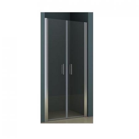 Riho Novik Z111 Drzwi prysznicowe wahadłowe 100x200 cm profile aluminiowe szkło przezroczyste z powłoką Riho Shield GZ6100000