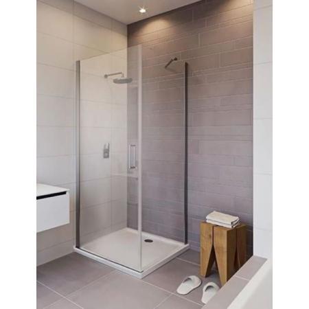 Riho Novik Z201 Kabina prysznicowa prostokątna 100x80x200 cm profile aluminiowe szkło przezroczyste z powłoką Riho Shield GZ5100080