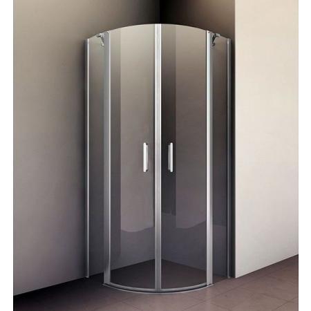 Riho Novik Z309 Kabina prysznicowa półokrągła 90x90x200 cm profile aluminiowe szkło przezroczyste z powłoką Riho Shield GZ9090090