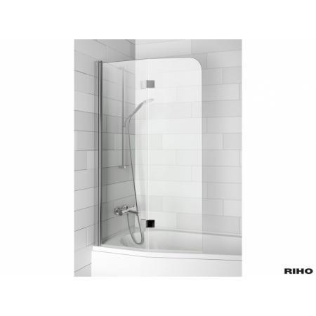 Riho Novik Z500 Parawan nawannowy 100x150 cm, profile chrom szkło przezroczyste GZT9200100