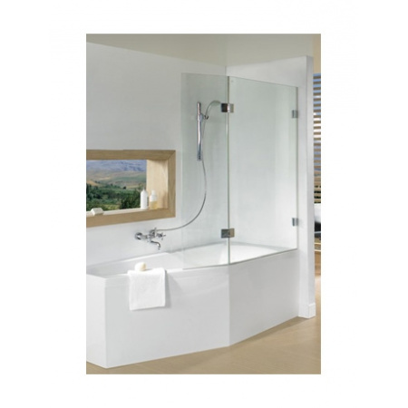 Riho Scandic S500 Parawan nawannowy do wanny Geta 160 109,5x150 cm, szkło przezroczyste GC61200