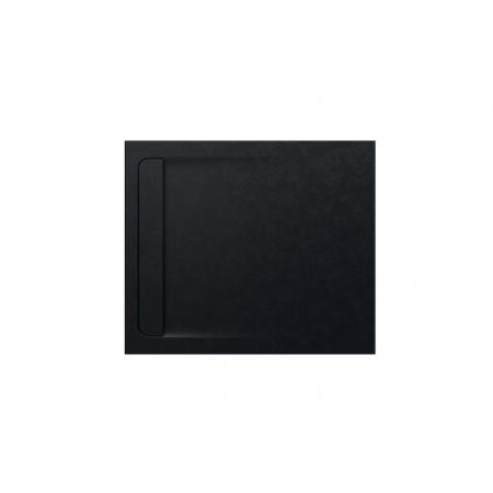 Roca Aquos Brodzik prostokątny 100x80x2,8 cm kompozytowy czarny AP6013E832001400