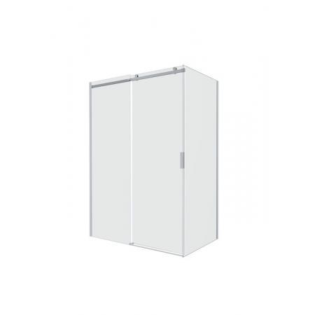 Roca Area Drzwi prysznicowe przesuwne do ścianki bocznej 120x200 cm z powłoką MaxiClean, wersja lewa, profile srebrne polerowane szkło przejrzyste AMP05L2012M