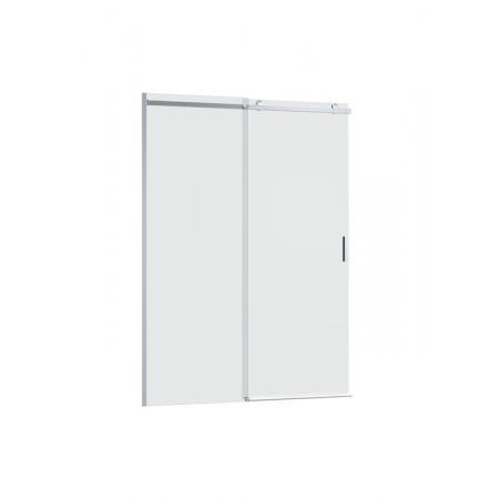 Roca Area Drzwi prysznicowe przesuwne do ścianki bocznej 140x200 cm z powłoką MaxiClean, wersja lewa, profile srebrne polerowane szkło przejrzyste AMP05L4012M