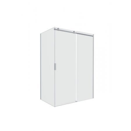 Roca Area Drzwi prysznicowe przesuwne do ścianki bocznej 160x200 cm z powłoką MaxiClean, wersja prawa, profile srebrne polerowane szkło przejrzyste AMP05R6012M