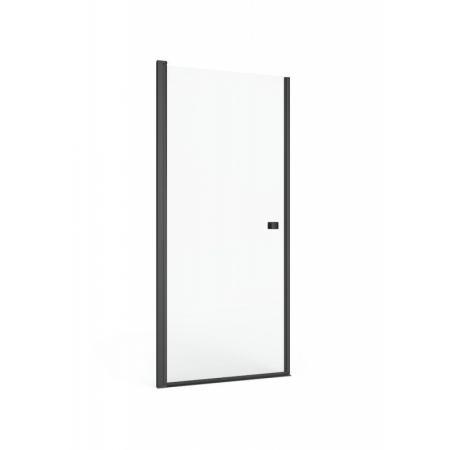 Roca Capital Black Drzwi uchylne 90x195 cm profile czarny mat szkło przezroczyste z powłoką MaxiClean AM4709016M