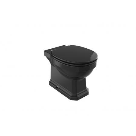 Roca Carmen Black Toaleta WC stojąca 56x37 cm bez kołnierza czarny połysk A3440A9560