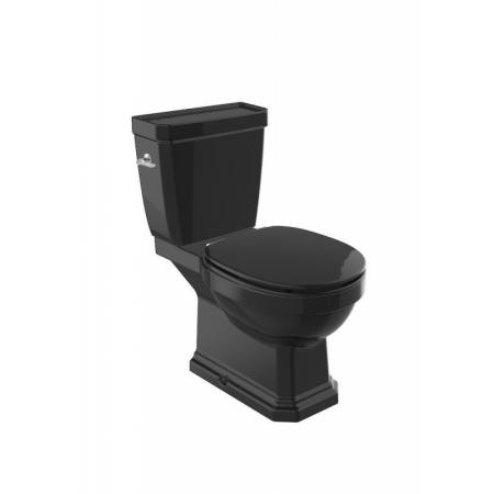 Roca Carmen Black Toaleta WC stojąca 67x37 cm bez kołnierza kompaktowa czarny połysk A3420A7560
