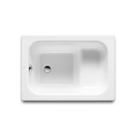 Roca Contesa Wanna prostokątna 100x70x39 cm stalowa z siedziskiem, biała A213100001