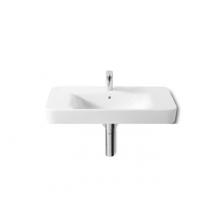 Roca Senso Square Umywalka wisząca 85x47,5x17,5 cm z powłoką MaxiClean, biała A32751N00M