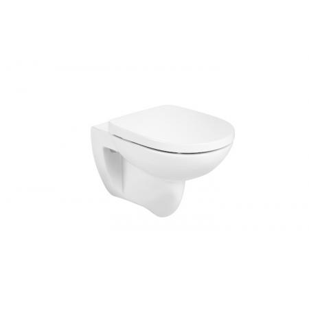 Roca Debba Round Toaleta podwieszana 35,5x54 cm Rimless bez kołnierza, z deską wolnoopadającą Supralit, biała A34H996000