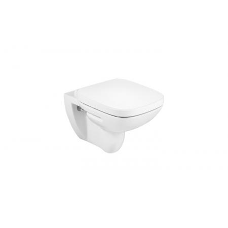 Roca Debba Square Toaleta podwieszana 54x35,5 cm Rimless bez kołnierza, z deską wolnoopadającą Duroplast, biała A34H99L000