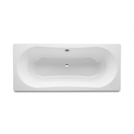 Roca Duo Plus Wanna prostokątna 180x80x40 cm stalowa z powłoką antypoślizgową, biała A221670000