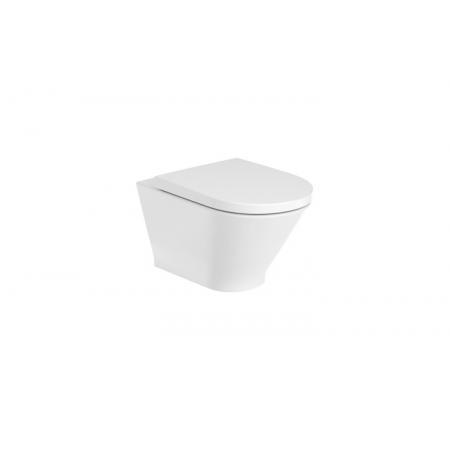 Roca Gap Round Toaleta WC podwieszana 54x35,5 cm Rimless bez kołnierza biała A3460NL000