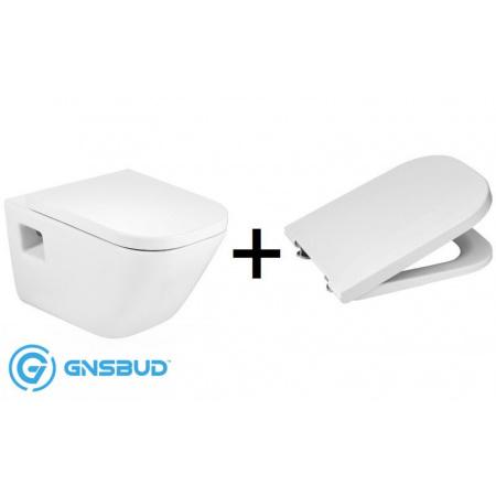 Roca Gap Zestaw Toaleta WC podwieszana 54x35 cm z deską sedesową wolnoopadającą, biały A346477000+A80148200U