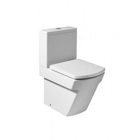 Roca Hall Toaleta WC kompaktowa 36,5x59,5x76,5 cm odpływ podwójny z powłoką MaxiClean, biała A34262800M