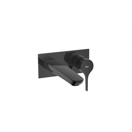 Roca Insignia Black Bateria umywalkowa podtynkowa czarny połysk A5A353ACN0