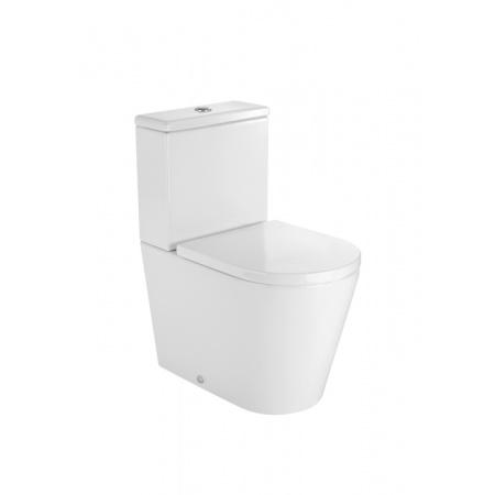 Roca Inspira Round Toaleta WC kompaktowa 37x60x76 cm odpływ podwójny Compacto, biała A342528000