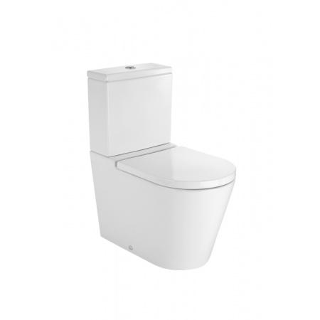 Roca Inspira Round Toaleta WC kompaktowa 37x64,5x79,4 cm odpływ podwójny, biała A342527000